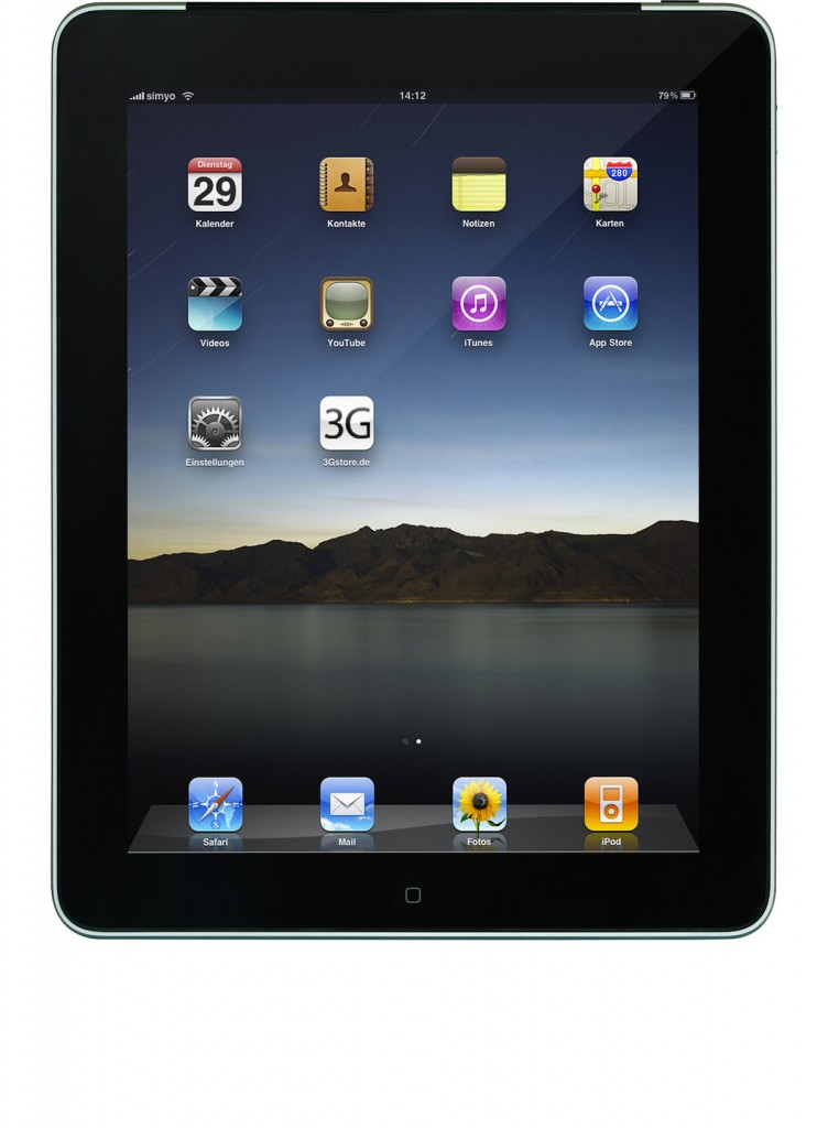 Apple iPad Front, Homescreen, 1200x1632, CC-BY-Lizenz